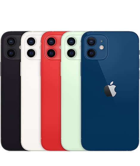 Apple iPhone 12 red black white blue green