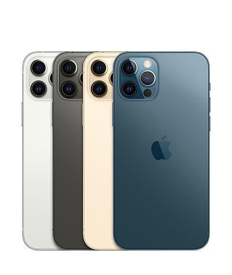 iPhone 12 Pro Gold Graphite Pacific Blue Silver